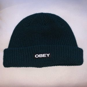 Obey beanie knitted